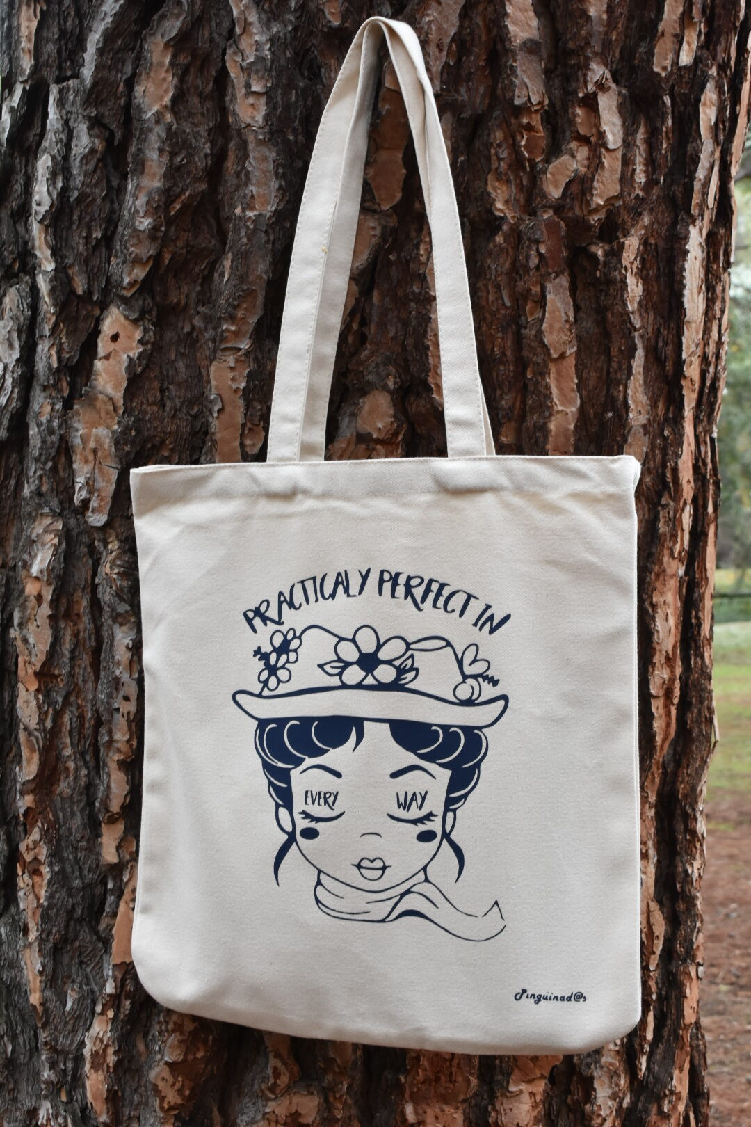 Pinguinadas | Tote bag Mary Poppins beige